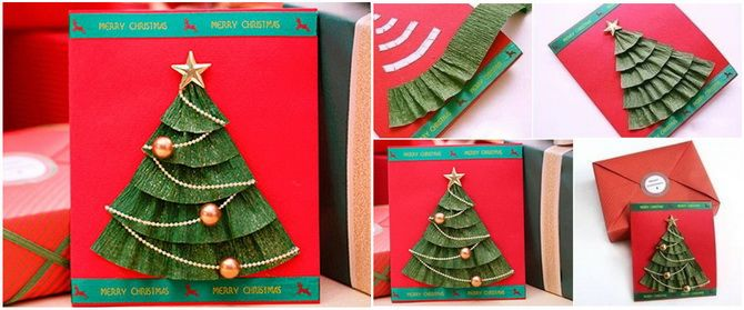 Создаем новогодние открытки своими руками: простые мастер-классы 4