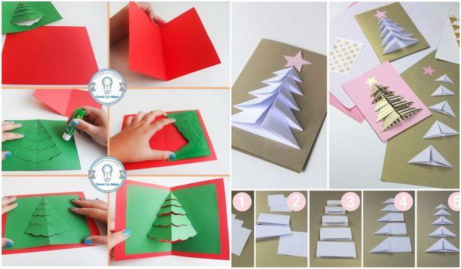 ایجاد کارت پستال سال نو با دست خود: کارگاه های ساده 5