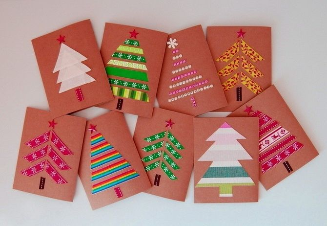 Создаем новогодние открытки своими руками: простые мастер-классы 7