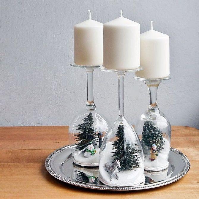 چگونه می توان شمعدان های سال نو را انجام داد - بهترین ایده ها 4