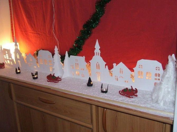 Жаңа жылдық үй - өз қолыңызбен қолөнер 15