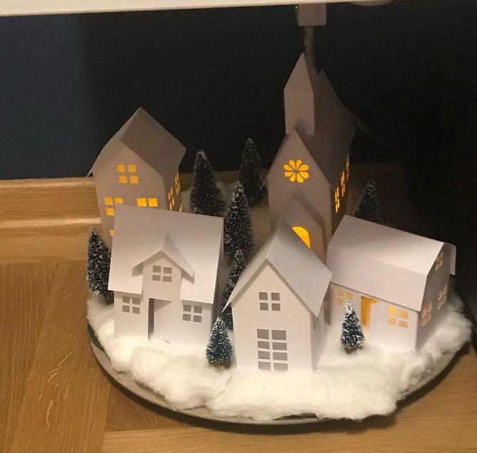 Новогодний домик – поделка своими руками 20