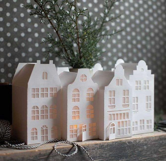 Новогодний домик – поделка своими руками 22