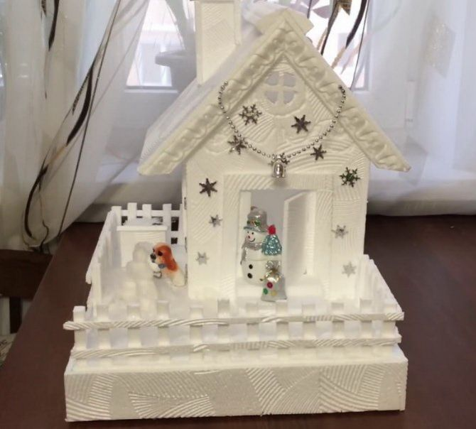 Новогодний домик – поделка своими руками 32