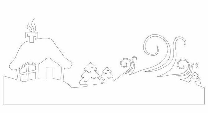 Novoroční dům - řemeslo s vlastními rukama 5