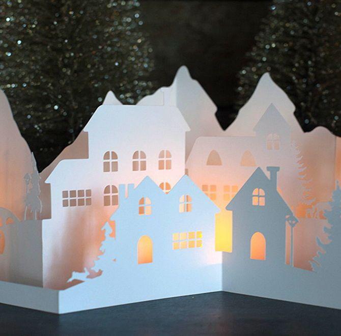 Novoroční dům - řemeslo s vlastními rukama 11
