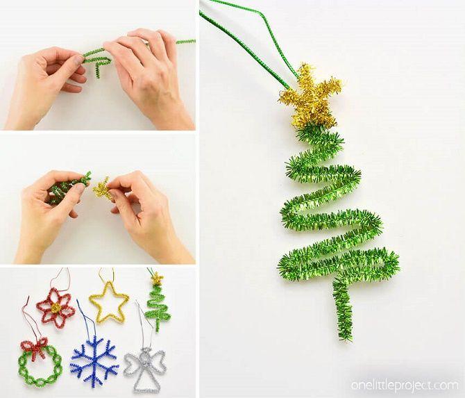 Cum de a face un copac de Crăciun de sârmă neobișnuit pentru Anul Nou 2021: idei cool cu fotografie 9
