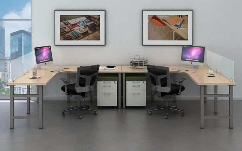 2 Person Collaborative Desk Bench Workstation Joyce Contract