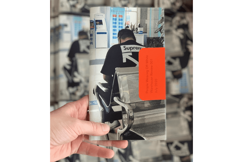 Off-White™️ に焦点を当てた ZINE 『Warehouse Review 001: People Wearing Off-White™』が登場 'People Wearing Off-White™' Zine by Warehouse Review book inside photographs essays criticism fashion industry