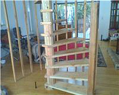 Diy Wood Spiral Stairs Built From Plans | Wood Spiral Staircase Plans | Before And After | Simple | Construction | Kid Friendly | Winding