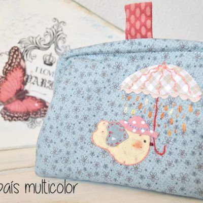 Monedero de patchwork con boquilla invisible