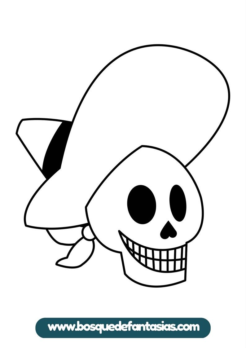 Colorear Dia De Muertos