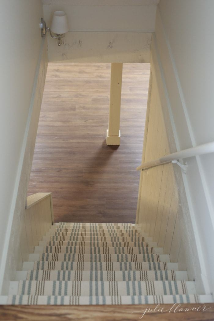 How To Redo Basement Stairs On A Budget With Indoor Outdoor Stair | Cost To Build Stairs To Basement | Spiral Staircase | Deck | Risers | Doors | Stair Treads