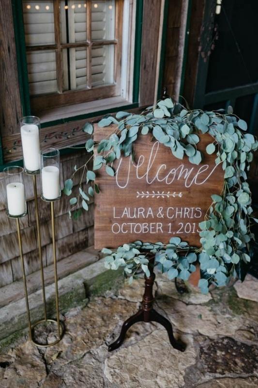 Eucalyptus Wedding Welcome Sign Wedding Inspiration