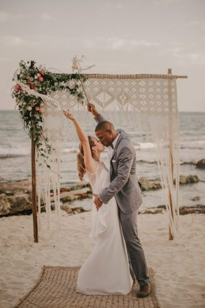 This Tulum Beach Wedding was Styled to the Nines by the Wedding         wedding designer Adriana of The Creative s Loft to plan her own wedding   she and her fianc      Gabe  opted for a wildly romantic Tulum beach wedding  on