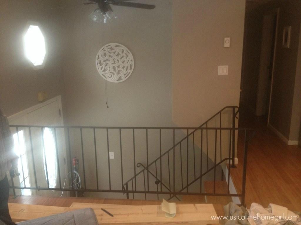 Not So Ordinary Raised Ranch Just Call Me Homegirl | Split Level Stair Railing | Wrought Iron | Julia | Modern | Easy Diy | Fancy