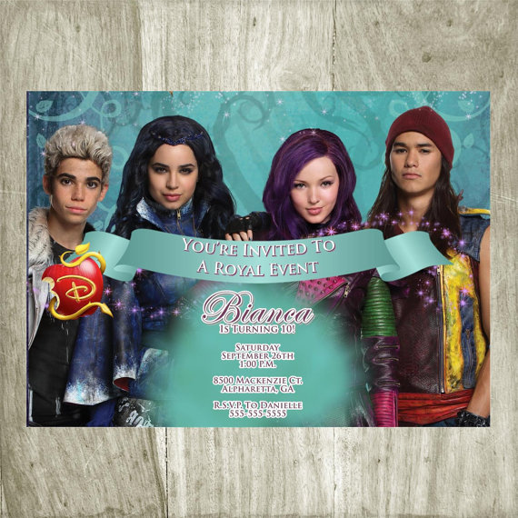 Printable Descendants Invitations