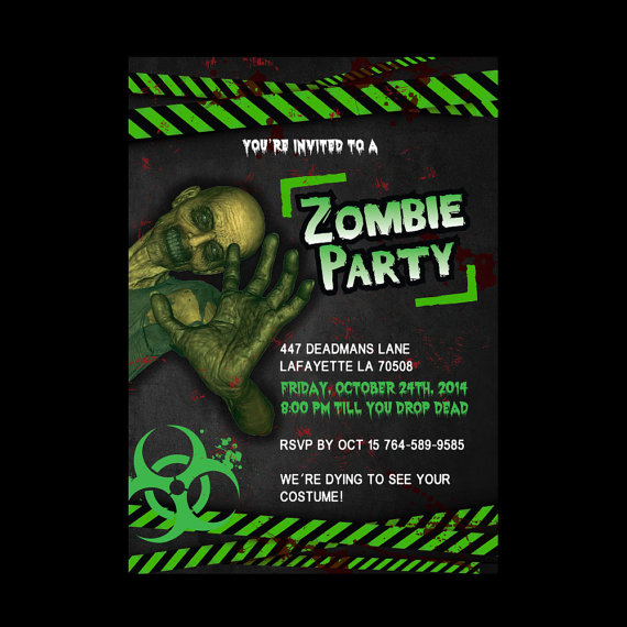 Printable Zombie Invitations
