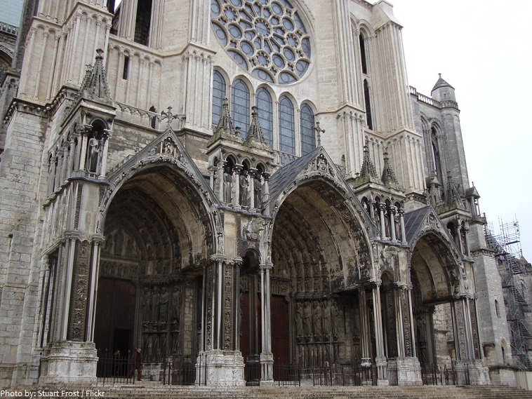 Transept Cathedral Chartres Portal North