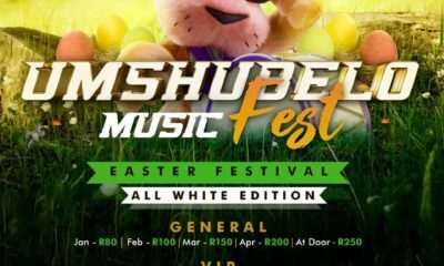 The Easter edition of the Umshubhelo Music Festival will be an all-white affair