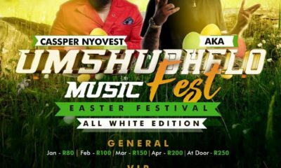 Cassper Nyovest and AKA Umshubhelo Fest line-up