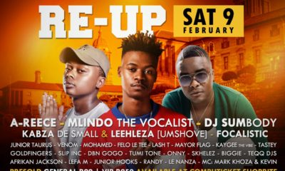 A-Reece and Mlindo The Vocalist set to perform at the Freshers Re-Up in Pretoria