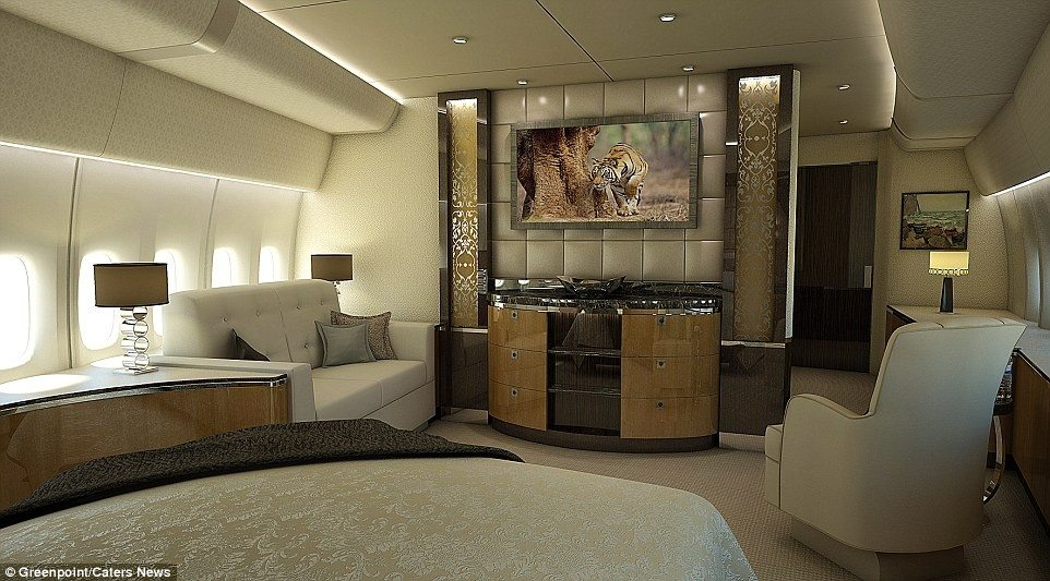 Inside Of The 607 Million Private Jet Boeing 747