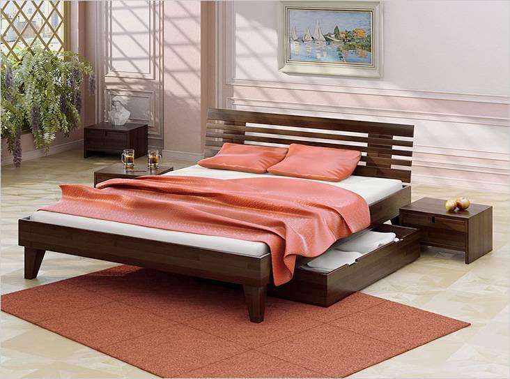 Самодельная кровать в интерьере