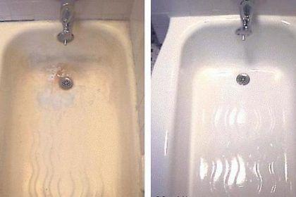 Ванна: до и после покрытия эмалью