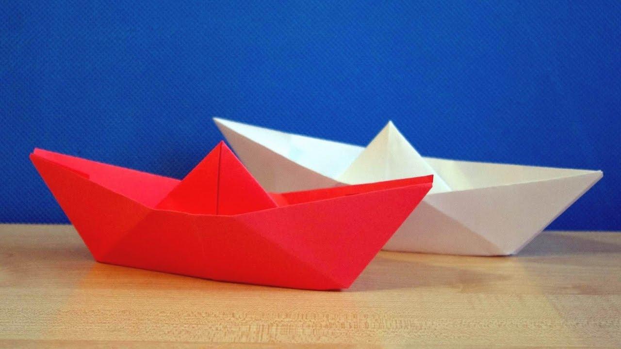 Hoe maak je een boot van papier? Instructie opvouwbare papieren boot doe het zelf fase 2