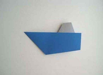 Hoe maak je een boot van papier? Instructie opvouwbare papieren boot doe het zelf fase 34