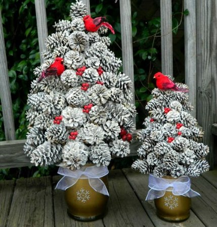 DIY Christmas tree for New Year & # 8212; photo ideas and master classes stage 38