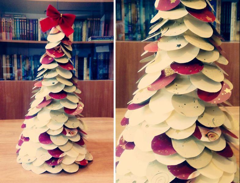 DIY juletræ til nytår & # 8212; fotoideer og mesterklasser fase 93