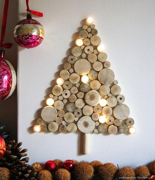 DIY juletræ til nytår & # 8212; fotoideer og mesterklasser trin 29