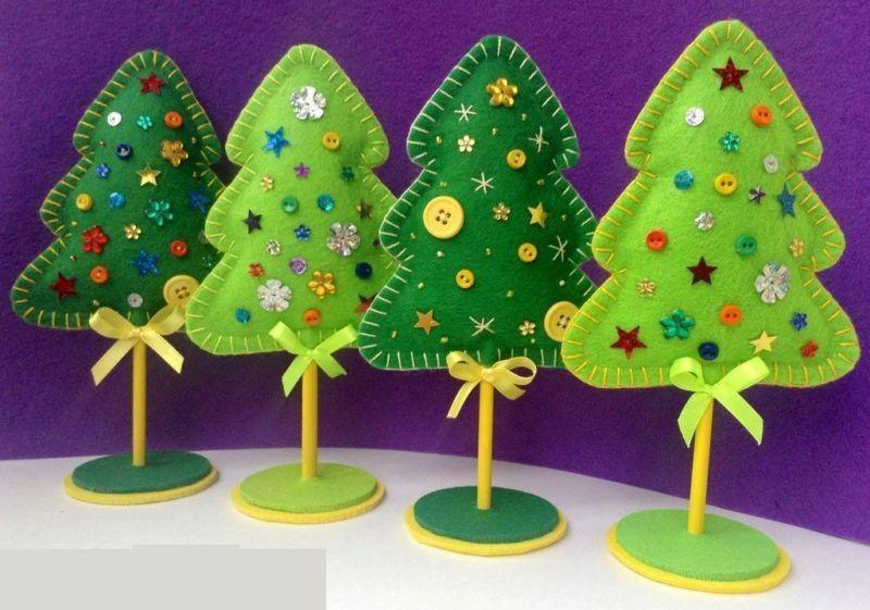 Χριστουγεννιάτικο δέντρο με τα χέρια σας για το Νέο Έτος & # 8212; Ιδέες φωτογραφιών και κύρια μαθήματα Στάδιο 26