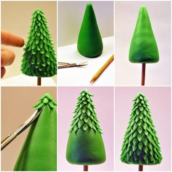 Χριστουγεννιάτικο δέντρο με τα χέρια σας για το Νέο Έτος & # 8212; Ιδέες φωτογραφιών και κύρια μαθήματα Στάδιο 141