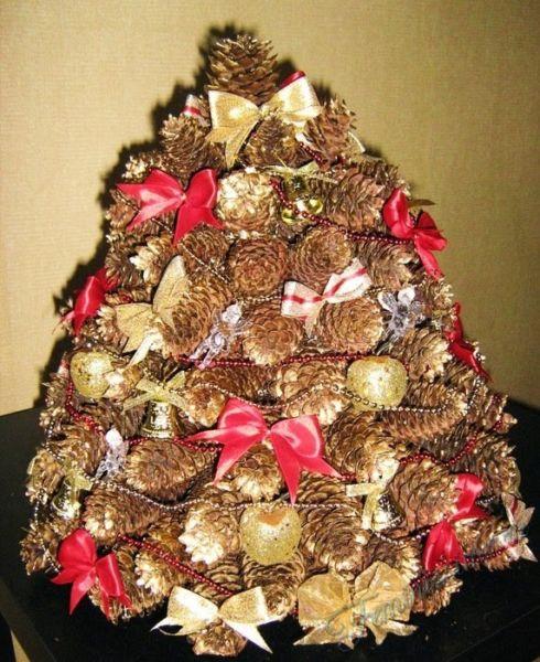 Χριστουγεννιάτικο δέντρο με τα χέρια σας για το Νέο Έτος & # 8212; Ιδέες φωτογραφιών και κύρια μαθήματα Στάδιο 53