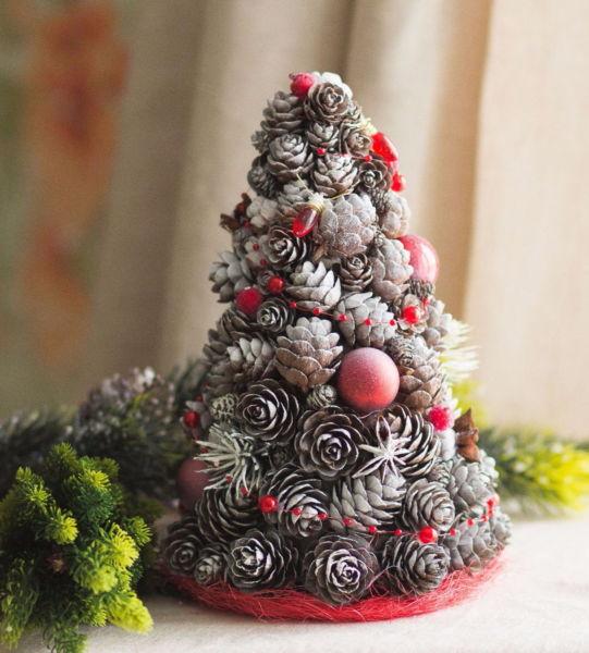 DIY juletræ til nytår & # 8212; fotoideer og mesterklasser trin 50