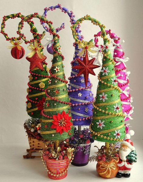 DIY juletræ til nytår & # 8212; fotoideer og mesterklasser fase 28