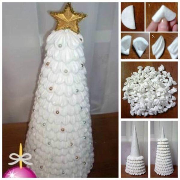 Χριστουγεννιάτικο δέντρο με τα χέρια σας για το Νέο Έτος & # 8212; Ιδέες φωτογραφιών και κύρια μαθήματα Στάδιο 120