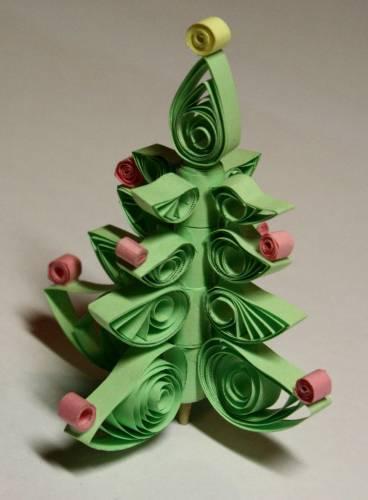 DIY juletræ til nytår & # 8212; fotoideer og mesterklasser trin 96