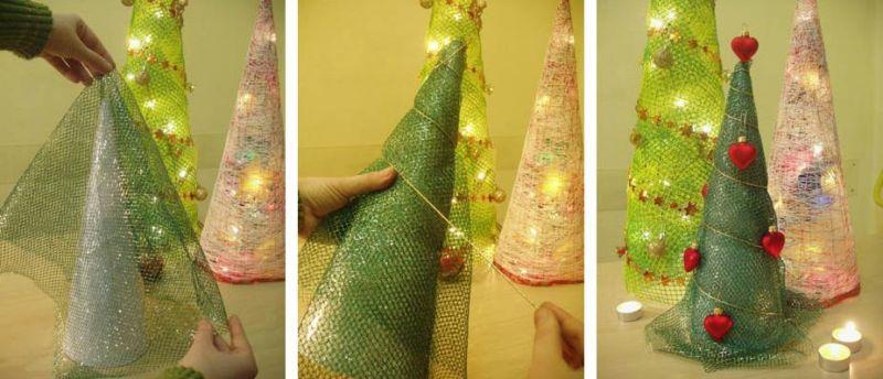Χριστουγεννιάτικο δέντρο με τα χέρια σας για το Νέο Έτος & # 8212; Ιδέες φωτογραφιών και κύρια μαθήματα Στάδιο 14