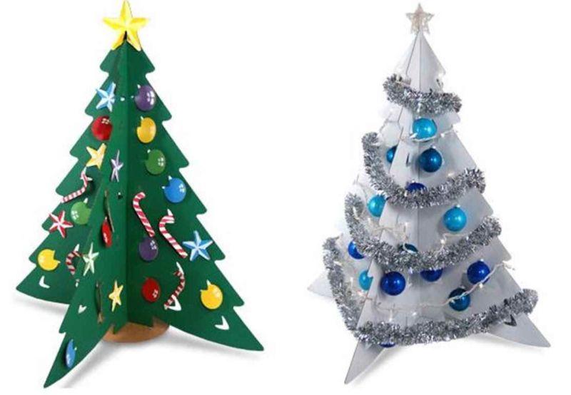 Χριστουγεννιάτικο δέντρο με τα χέρια σας για το Νέο Έτος & # 8212; Ιδέες φωτογραφιών και Master Classes Στάδιο 18