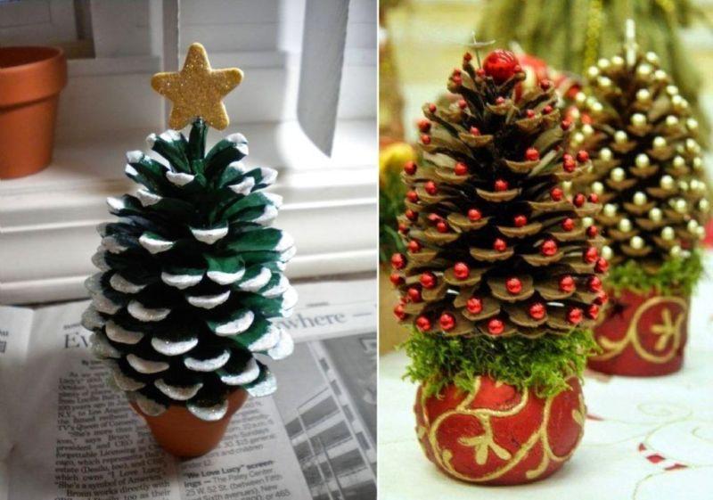 DIY juletræ til nytår & # 8212; fotoideer og mesterklasser trin 21