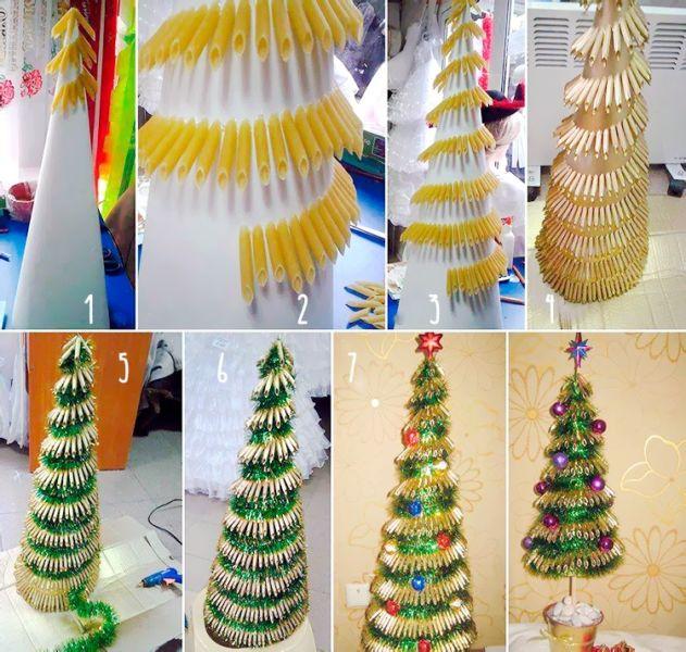 Árvore de Natal com as mãos para o ano novo e # 8212; Idéias fotográficas e mestres estágio 4