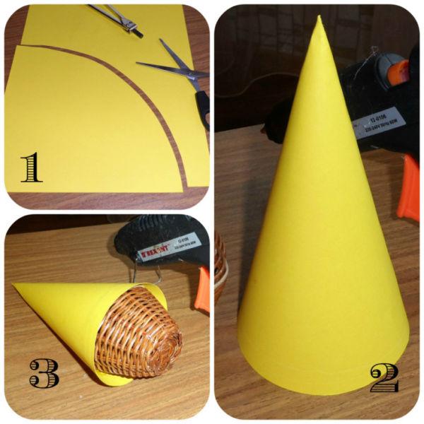 Tělor strom z papíru & # 8212; Schémata a šablony vytvořit vánoční strom s vlastními rukama fází 52