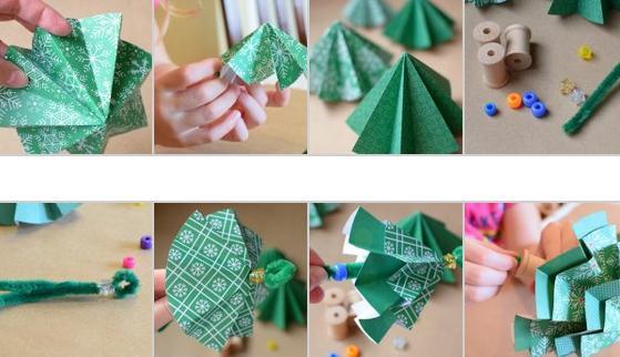 Tělor strom z papíru & # 8212; Schémata a šablony k vytvoření vánočního stromu s vlastními fází rukou 25