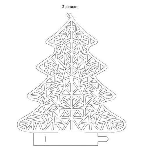 Tělor strom z papíru & # 8212; Schémata a šablony k vytvoření vánočního stromu s vlastní fází rukou 13