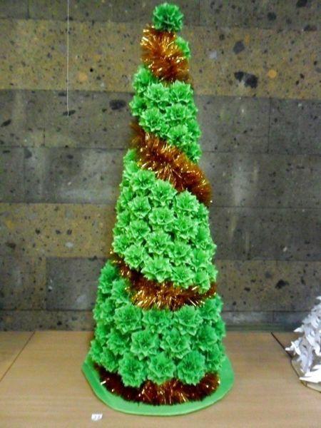 Tělor strom z papíru & # 8212; Schémata a šablony k vytvoření vánočního stromu s vlastními fází rukou 89