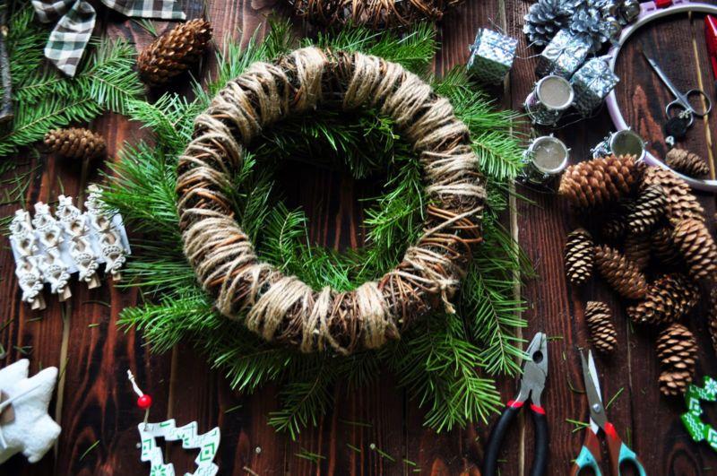 Жаңа жылдық гүл шоқтарын өзіңіз жасайды. Үйде гүл шоқтарын өндіруге арналған 12 шеберлік сабағы 36